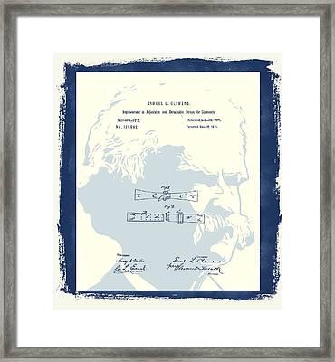 Mark Twain Patent Framed Print by Dan Sproul
