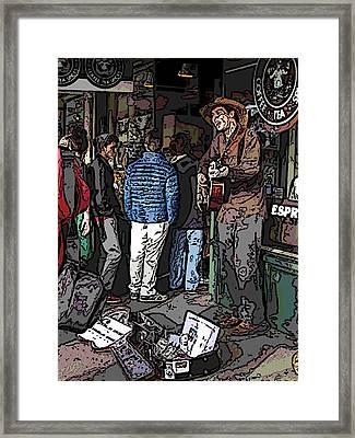 Market Busker 7 Framed Print by Tim Allen