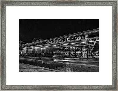 Market Framed Print by CJ Schmit