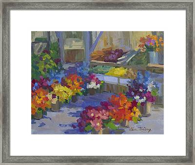 Market Day Framed Print by Diane McClary