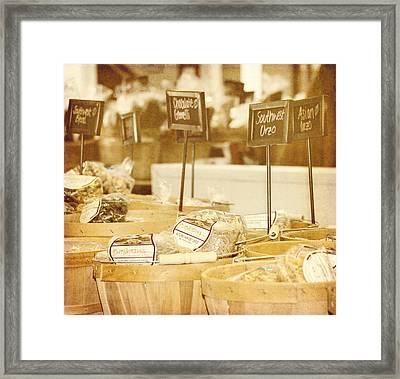 Market Day Framed Print by Kim Hojnacki