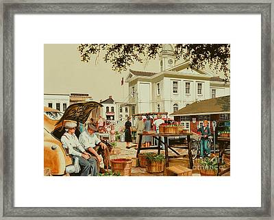 Market Days Framed Print by Michael Swanson
