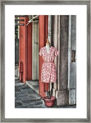 Market Fashion Framed Print by Brenda Bryant