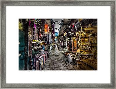 Market In The Old City Of Jerusalem Framed Print by David Morefield