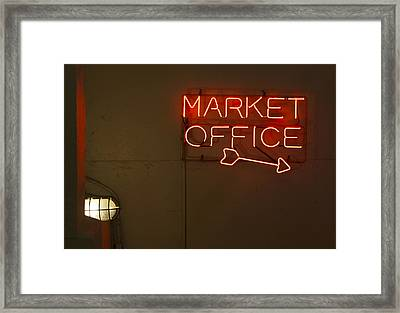 Market Office To The Right Framed Print by Scott Campbell