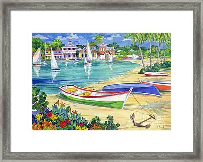 Market Street Harbor Framed Print by Paul Brent