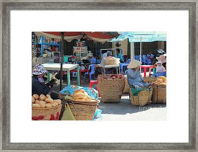 Market Street Vietnam Framed Print by Yury Bashkin