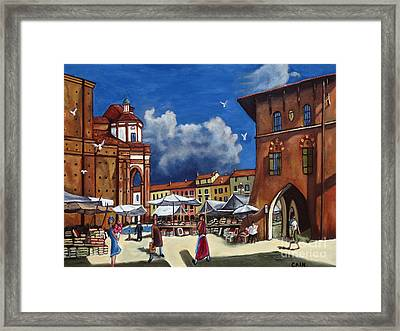 Marketplace Framed Print by William Cain
