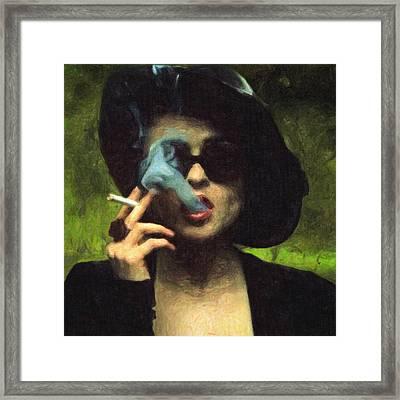 Marla Singer Framed Print by Taylan Apukovska