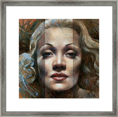 Marlene Dietrich Framed Print by Arthur Braginsky
