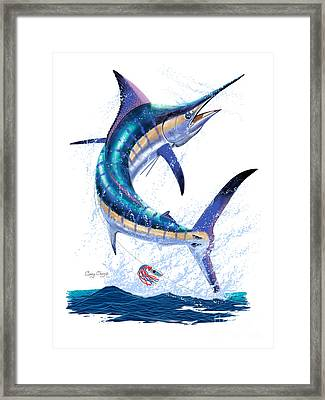 Marlin Leap Framed Print by Carey Chen