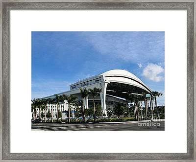 Marlins Park Stadium Miami 16 Framed Print by Rene Triay Photography