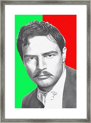Marlon Brando In Viva Zapata Framed Print by Art Cinema Gallery