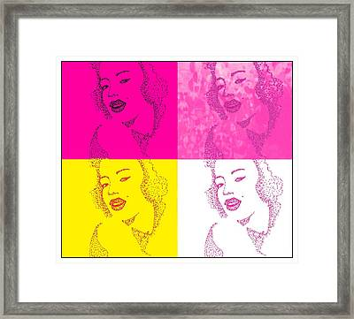 Marlyn Framed Print by Anne Costello