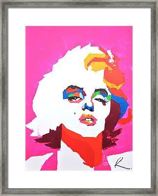 Marlyn Monroe Framed Print by Edgar Rafael