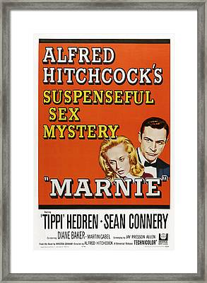 Marnie, Tippi Hedron, Sean Connery, 1964 Framed Print by Everett