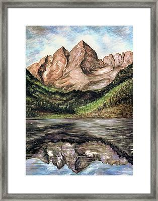 Maroon Bells Colorado - Nature Landscape Framed Print by Art America Online Gallery