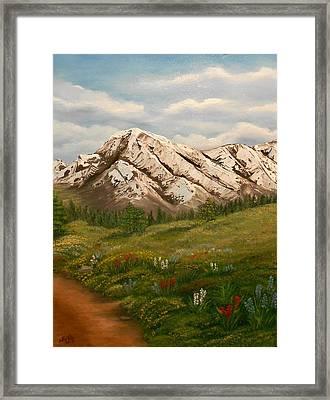 Maroon Trail Splendor Framed Print by Sheri Keith