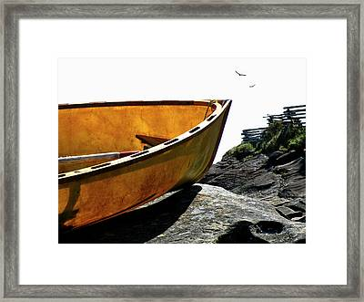 Marooned Framed Print by Micki Findlay