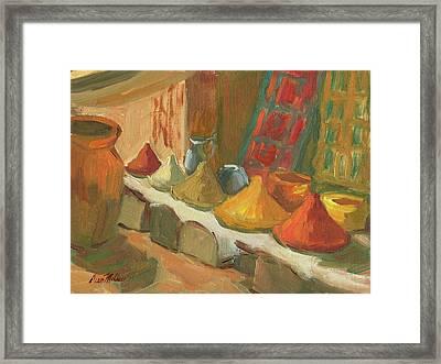 Marrakesh Market Framed Print by Diane McClary