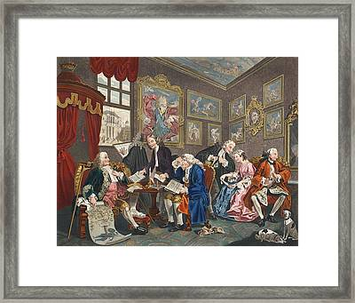 Marriage A La Mode, Plate I, The Framed Print by William Hogarth