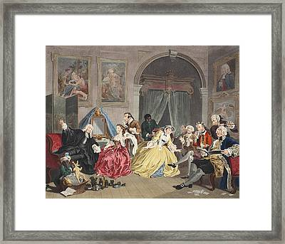 Marriage A La Mode, Plate Iv, The Framed Print by William Hogarth