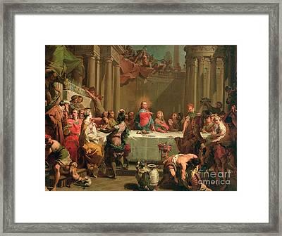 Marriage Feast At Cana Framed Print by Gaetano Gandolfi