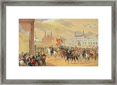 Marriage Of Tsar Nicholas II Framed Print by Russian School