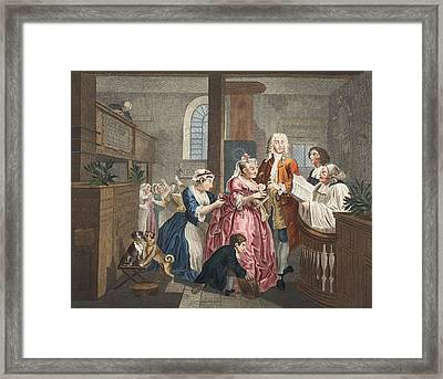 Married To An Old Maid, Plate V From A Framed Print by William Hogarth