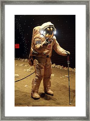 Mars-500 Landing Simulation Framed Print by Science Photo Library
