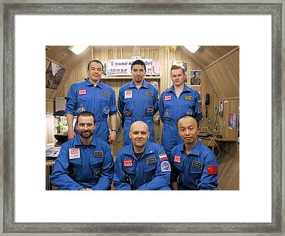 Mars-500 Project Participants Framed Print by Science Photo Library