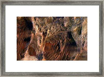 Mars Surface Deposits Framed Print by Nasa/jpl-caltech/univ. Of Arizona