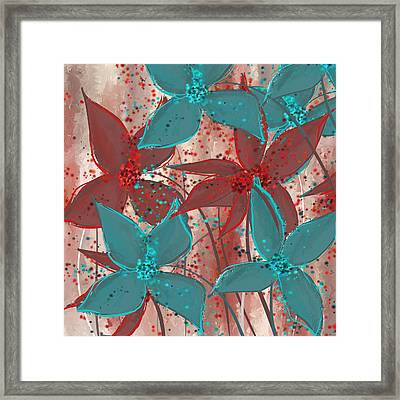 Marsala And Turquoise  Framed Print by Lourry Legarde