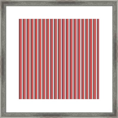 Marsala Stripe 2 Framed Print by Linda Woods