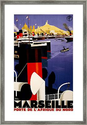 Marseille France Framed Print by Georgia Fowler