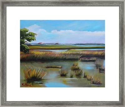 Marsh At Yellow Bluff Framed Print by Karen Macek