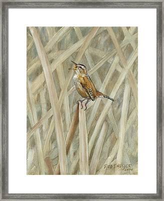 Marsh Melody Framed Print by Rob Dreyer AFC
