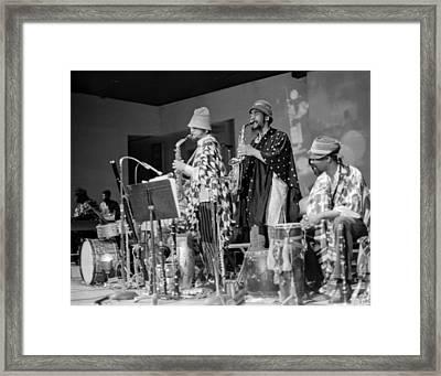 Marshall Allen And Danny Davis Framed Print by Lee  Santa