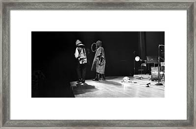 Marshall And Sonny 1968 Framed Print by Lee  Santa
