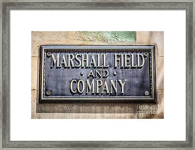 Marshall Field And Company Sign In Chicago Framed Print by Paul Velgos