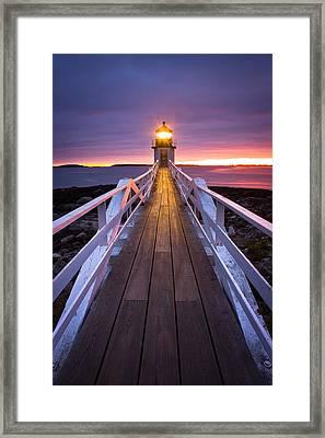 Marshall Point Boardwalk Framed Print by Benjamin Williamson