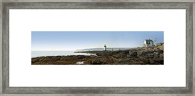 Marshall Point Lighthouse - Panoramic Framed Print by Mike McGlothlen
