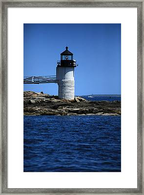Marshall Point Surrounded By Blue Framed Print by Karol Livote