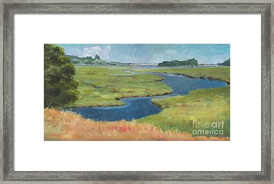 Marshes At High Tide Framed Print by Claire Gagnon