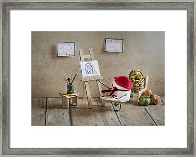 Marshmallow Masterpiece Framed Print by Heather Applegate