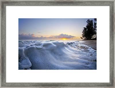 Marshmallow Tide Framed Print by Sean Davey