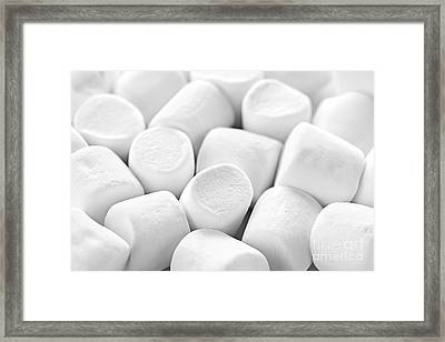 Marshmallows Framed Print by Elena Elisseeva