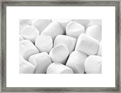 Marshmallows Framed Print by Elena Elisseeva
