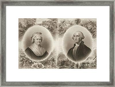 Martha And George Washington 1876 Framed Print by Padre Art