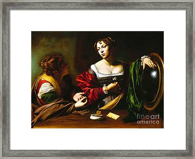 Martha And Mary Magdalene Framed Print by Pg Reproductions
